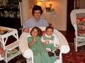 My cousin Zachary with his niece and nephew, Louisa Love and Graham