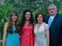 with my whole family (minus the dog) before a wedding in North Carolina